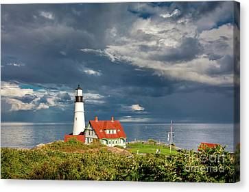 Canvas Print featuring the photograph Casco Bay Lookout by Susan Cole Kelly