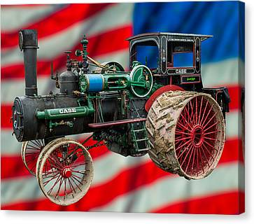 Case Steam Tractor Canvas Print by Paul Freidlund
