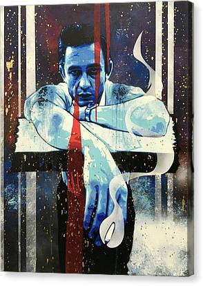 Street Art Canvas Print - Cash - Preacher Man Le by Bobby Zeik