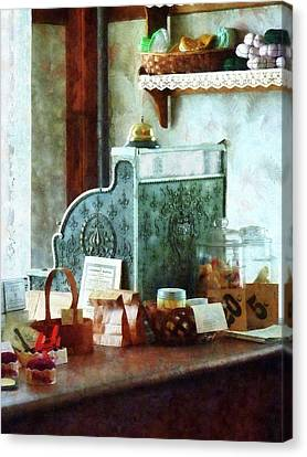 Canvas Print featuring the photograph Cash Register In General Store by Susan Savad