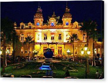 Jeff Kolker Canvas Print - Casino Monte Carlo by Jeffrey Kolker