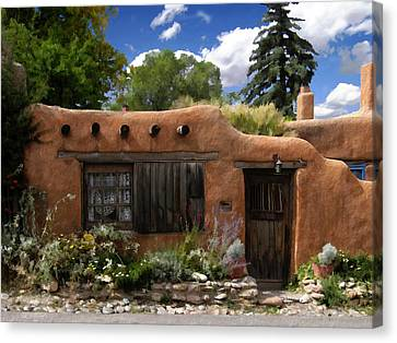 Casita De Santa Fe Canvas Print by Kurt Van Wagner