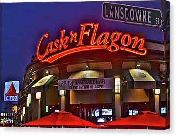 Cask And Flagon Citgo Sign Lansdowne Street Canvas Print by Toby McGuire