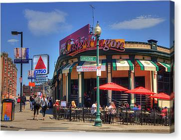 Cask'n Flagon And The Citgo Sign - Boston Canvas Print by Joann Vitali