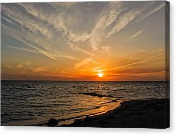 Caspersen Beach Gulf Coast Sunset  -  4 Canvas Print by Frank J Benz