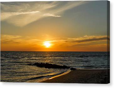 Southwest Florida Sunset Canvas Print - Caspersen Beach Sunset 1   -   Caspbch35 by Frank J Benz