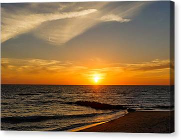 Southwest Florida Sunset Canvas Print - Caspersen Beach Sunset 2   -  Casbch45 by Frank J Benz