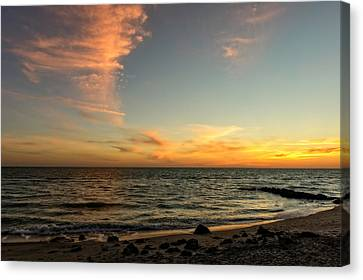 Southwest Florida Sunset Canvas Print - Caspersen Beach Sunset 3  -  Casbch65 by Frank J Benz