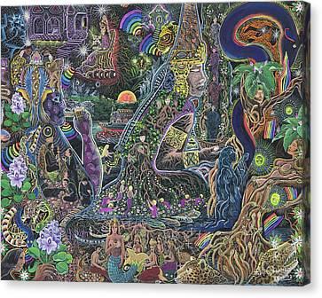Brilliant Canvas Print - Caspi Maman by Pablo Amaringo