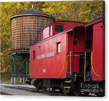 Cass Railroad Caboose Canvas Print by Jerry Fornarotto