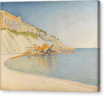 Canvas Print featuring the painting Cassis. Cap Lombard. Opus 196 by Paul Signac