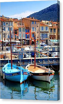 Canvas Print featuring the photograph Cassis Harbor by Olivier Le Queinec