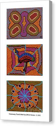 Cassowary - Food - Nest Canvas Print by Clifford Madsen