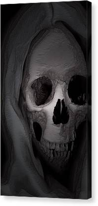 Cast In Bone Canvas Print by Jean Gugliuzza