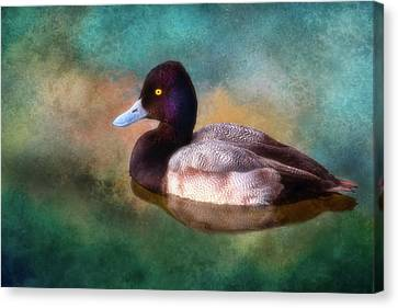 Cast Your Duck Upon The Water Canvas Print by Joan Bertucci