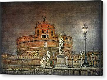 Canvas Print featuring the photograph Castel Sant Angelo Fine Art by Hanny Heim