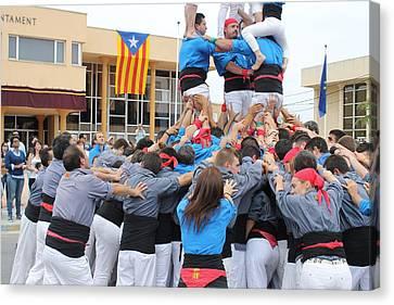 Casteller Catalan Human Tower Spain Canvas Print