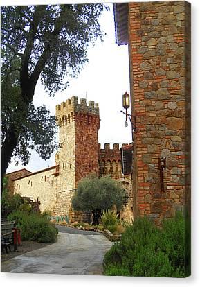 Castello Di Amorosa Napa Valley California Canvas Print
