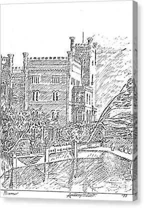 Castello Di Miramare Canvas Print by Anthony Meton