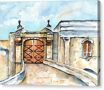 Castillo De San Cristobal Entry Gate Canvas Print by Carlin Blahnik