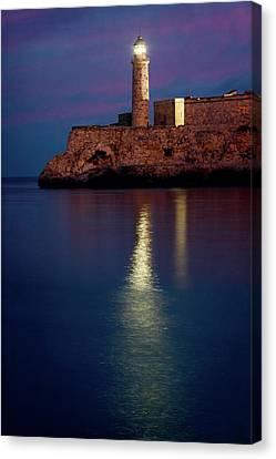 Habana Canvas Print - Castillo Del Morro Lighthouse Havana Cuba by Joan Carroll