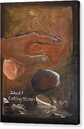 Casting Stones Canvas Print by Gary Smith