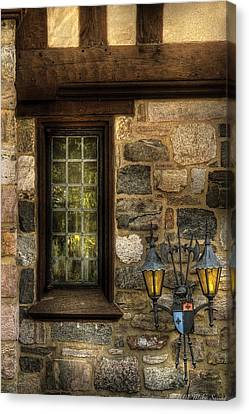 Castle - Coat Of Arms Canvas Print by Mike Savad