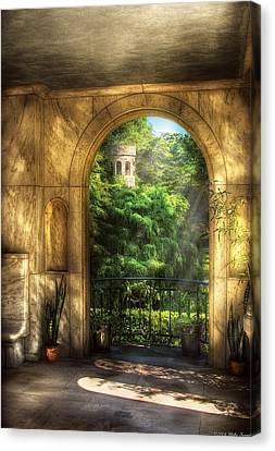 Castle - Just Beyond Canvas Print by Mike Savad