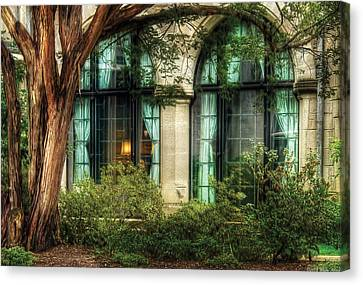 Castle - The Castle Windows Canvas Print by Mike Savad
