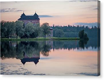 Castle After The Sunset Canvas Print
