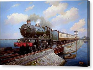 Castle At Starcross Canvas Print by Mike  Jeffries
