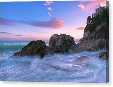 Castle Beach Canvas Print by Giovanni Allievi