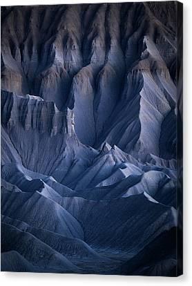 Canvas Print featuring the photograph Castle Blue by Dustin LeFevre