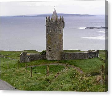 Castle By The Sea In Ireland Canvas Print