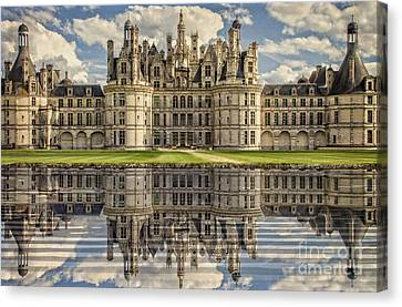 Canvas Print featuring the photograph Castle Chambord by Heiko Koehrer-Wagner