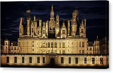 Castle Chambord Illuminated Canvas Print by Heiko Koehrer-Wagner