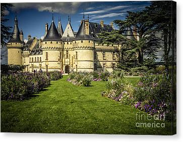Castle Chaumont With Garden Canvas Print by Heiko Koehrer-Wagner