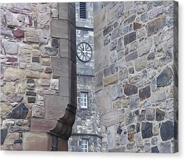 Castle Clock Through Walls Canvas Print