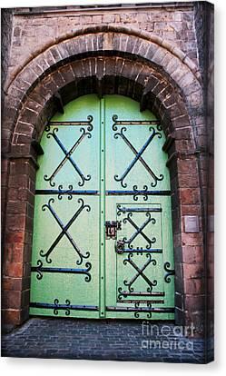 Medieval Entrance Canvas Print - Castle Door by Carol Groenen