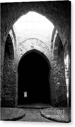 Byzantine Canvas Print - Castle Dungeon by John Rizzuto