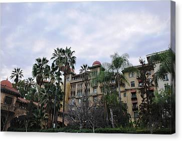 Canvas Print featuring the photograph Castle Green Pasadena  by Matt Harang