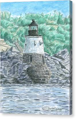 Castle Hill Lighthouse Canvas Print by Dominic White