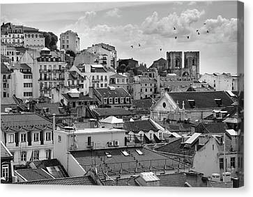 Castle Hill Neighborhood, Lisbon Canvas Print by Carlos Caetano