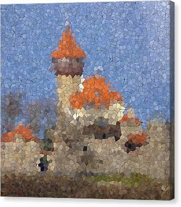 Castle Hnevin Glass Mosaic Canvas Print by Miroslav Nemecek