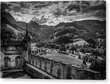 Alberi Canvas Print - Castle II Hdr by Michele Mule'