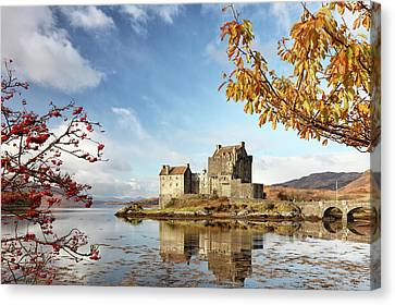 Canvas Print featuring the photograph Castle In Autumn by Grant Glendinning