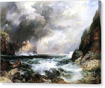 Castle In Scotland Canvas Print by Thomas Moran
