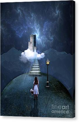 Castle In The Clouds Canvas Print by Juli Scalzi