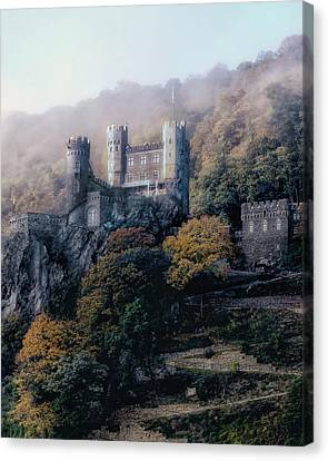 Canvas Print featuring the photograph Castle In The Mist by Jim Hill