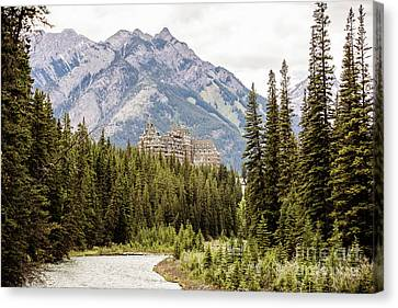 Castle In The Mountains Canvas Print by Scott Pellegrin